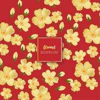 Design de fond floral doré vintage