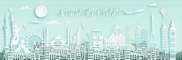 White Around The World  Banner