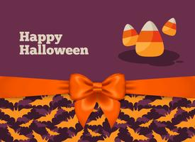 Halloween vykortdesign med godismajs
