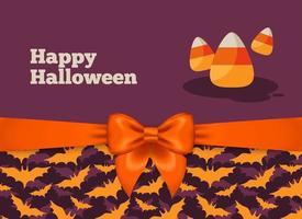 Diseño de postal de Halloween con maíz dulce