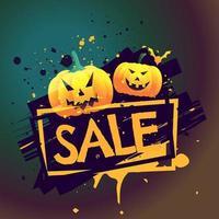 Halloween saisonale Verkaufsschild mit Kürbissen