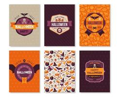 Set van Halloween verticale Banners met labels