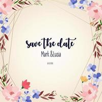 Colorful Floral Save the Date Card