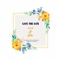 Floreale Save The Date Square Card