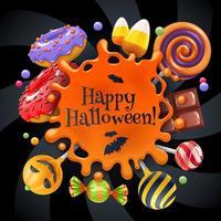 Bunter Partyhintergrund der Halloween-Bonbons