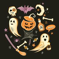 Halloween Dekorationen und Charaktere