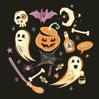Halloween-decoraties en personages