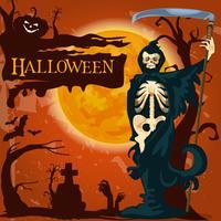 Manifesto dell'orrore della morte di festa di Halloween