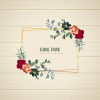 Marco floral geométrico horizontal