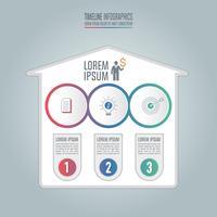 Infographik Geschäftskonzept mit 3 Optionen.