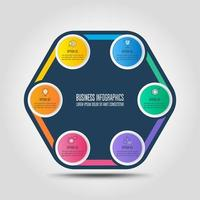 infographic design business concept with 6 options, parts or processes.