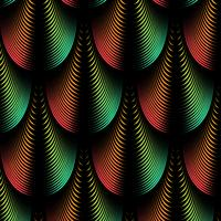 Abstract background with blended feather lines