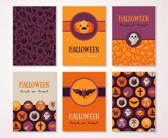 Banner verticale di Halloween con simboli di festa