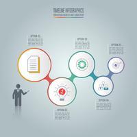 Concept d'entreprise infographique avec 5 options.