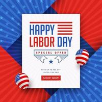 Happy Labor Day Sale Promotion Template