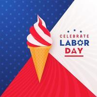 Ice Cream Labor Day Celebration Banner