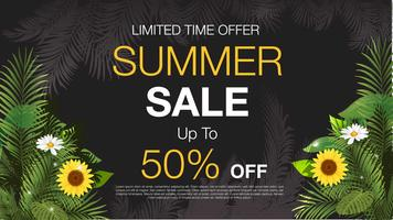 Floral Summer Sale Discount  Poster