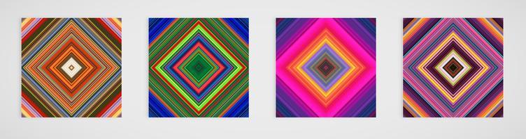 Färgglad uppsättning med fyra linjer mönster