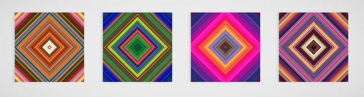 Kleurrijke set van vier lijnen patroon