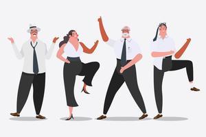 Business team dansen