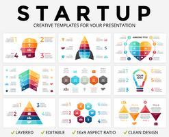 Grafico di presentazione infografica frecce