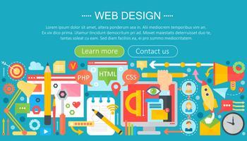 Conceito plano de Web design com programação de aplicativos e infográficos