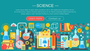 Horizontal banner with scientist laboratory workplace