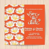 Wedding invitation card templates vector