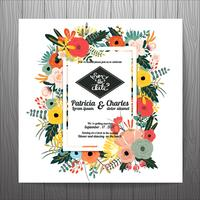 Wedding invitation card templates flower