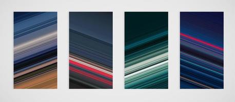 Kleurrijke set van schuine lijnen patroon