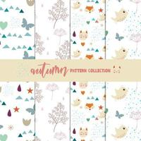 Autumn pattern collection vector