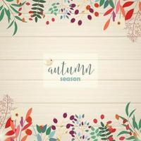 autumn leaves border card design vector