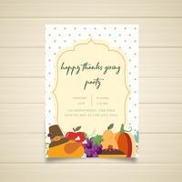 Festive Happy Thanksgiving Party Invitation