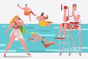 Persone in piscina