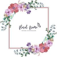 elegant square floral frame