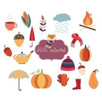 colección de elementos de otoño