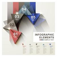 infographie moderne avec des triangles brillants
