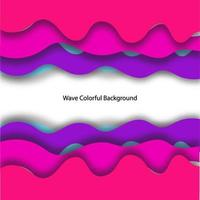 Print 3D Wave Background Colorful Design