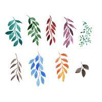 Satz von Aquarell Blätter und Zweige