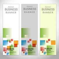 Bannières d'affaires colorées abstraites