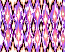 Seamless geometric pattern, based on ikat fabric style. Vector illustration.