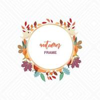 autumn frame design with foliage and birds