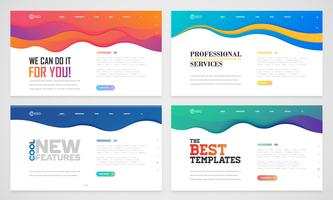Clean website template set