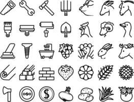 conjunto de iconos tema de reparación