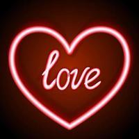 Insegna al neon a forma di cuore