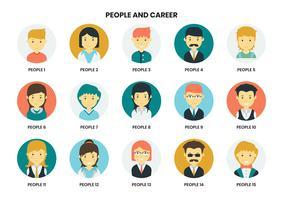 Conjunto de iconos de diferentes personas