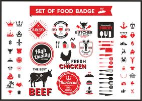 Restaurant Vintage Food Badges