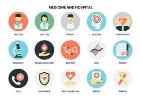 Sjukhus ikoner set