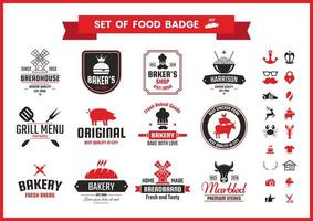 Restaurante Vintage Food Badges