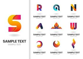Modern Vector Shapes and Letters